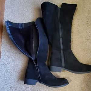 Black calf boots worn once size 8